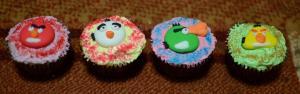 Variasi Frosting Angry Bird Cupcake